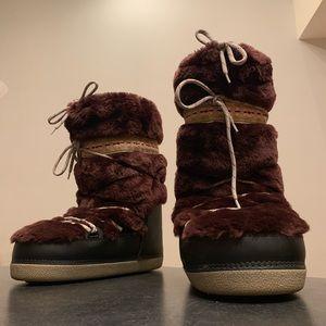 Marc Jacobs faux fur apres ski mukluk moon boots